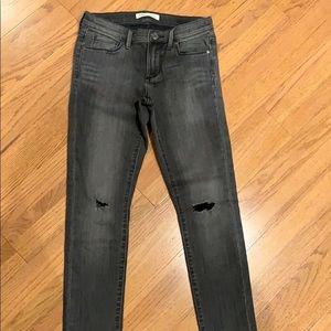 Banana Republic skinny jeans in dark gray